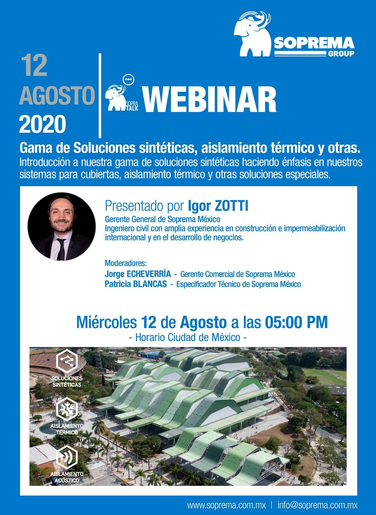 Gama de Soluciones sintéticas, aislamientos y otras SOPREMA México